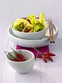 Stir-fried cabbage with chillies