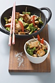 Stir-fried broccoli with tofu