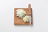 Garlic and onion, diced