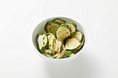 Courgette, fried and stir-fried