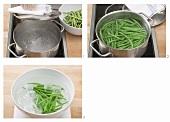 Grüne Bohnen blanchieren