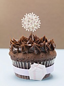 Chocolate cupcake to give as a gift