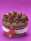 Chocolate cupcake for Valentine's Day