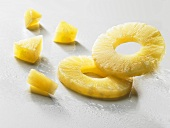 Pineapple rings and pineapple chunks