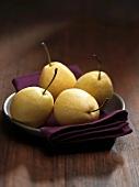 Nashi pears in a dish