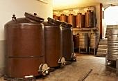 Pot stills at a distillery