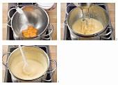 Beating egg yolks and sugar