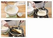 Eierpfannkuchen zubereiten