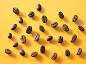 Coffee beans (overhead view)