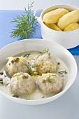 Meatballs in lemon caper sauce