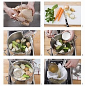Making chicken stock