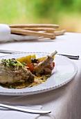 Rabbit in white wine (Coniglio all'Arneis, Piedmont)