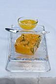 Terrina di mandaranci (Mandarin jelly with orange sauce)