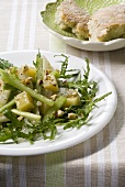 Insalata di sedano e pere (Celery, rocket and pear salad)
