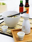 Spicy dip and sake (Asia)