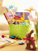 Easter nest with sweets and name tag