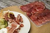 Italian sausage and ham platter
