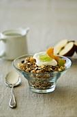 Muesli with fresh fruit and yoghurt