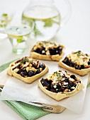 Beetroot and feta tarts