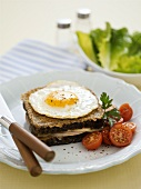 Croque Madame on plate
