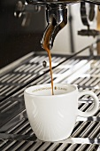 Making a cup of espresso