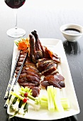 Roast duck, carved (Asia)