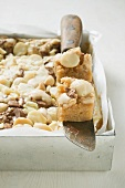 Blondies (White chocolate brownies with macadamia nuts)