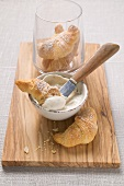 Soft cheese spread with tiger nuts