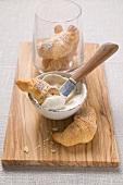 Frischkäsecreme mit Chufas-Nüssli