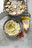 Mushroom and chick-pea paste