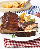 All-American spare ribs (Marinated and grilled pork ribs)