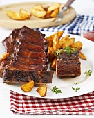 American-style spare ribs