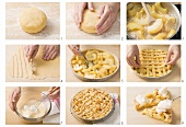 Making crostata di mele (lukewarm apple pie), Lombardy, Italy