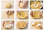 Crostata di mele zubereiten (Lauwarme Apfeltorte), Lombardei