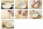 Making filei alla ricotta casalinga (Rolled pasta)