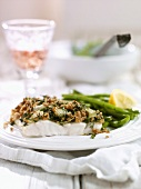 Cod fillet with herb crust