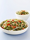 Couscous with chick-peas and tomatoes