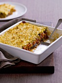 Vegetable moussake in baking dish