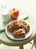 Apple and oat slices with nuts