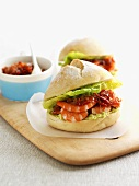 Prawn sandwich with chilli paste