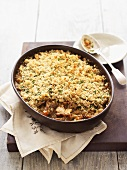 Rabbit and carrot crumble