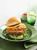 Tofu-Burger mit Mango