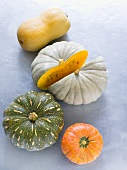 Various pumpkins and squashes