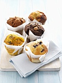 Five different muffins