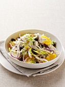 Fennel and orange salad with chicken