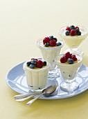 Yoghurt with honey and fresh berries