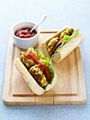 Veggie burger sandwiches for children