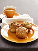 Lime and poppy seed muffins and a cup of tea