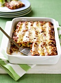 Cannelloni with chicken, sweetcorn and rocket