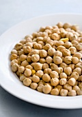 Chick-peas on a plate